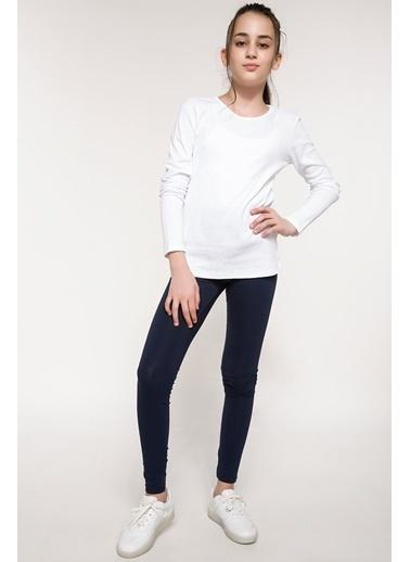 DeFacto Basic Uzun Kollu Body Beyaz